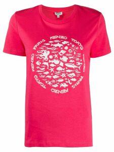 Kenzo sealife print T-shirt - PINK