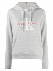Calvin Klein Jeans logo print hoodie - Grey