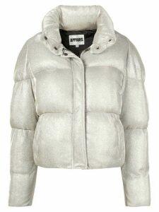 Apparis Paula concealed zip up puffer jacket - SILVER