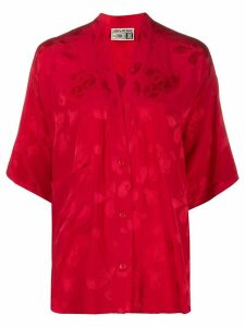 Zadig & Voltaire x NBA Mandala V-neck silk blouse - Red