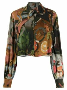 Vivienne Westwood Anglomania Hals cropped shirt - Green