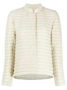 Save The Duck logo patch padded jacket - NEUTRALS