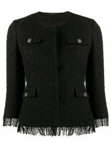 Tagliatore tailored tweed jacket - Black