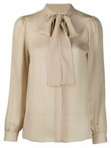 Michael Michael Kors bow tie blouse - NEUTRALS