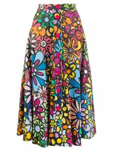 Ultràchic flower print flared skirt - PINK
