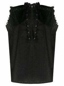 Twin-Set embroidered design blouse - Black