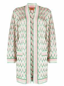 Missoni zig-zag knit longline cardigan - NEUTRALS