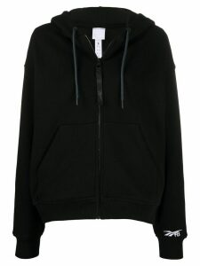 Reebok x Victoria Beckham logo drawstring hoodie - Black