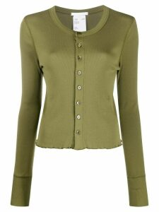 Helmut Lang Femme slim-fit cotton cardigan - Green