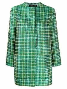 Gianluca Capannolo oversized houndstooth pattern coat - Green