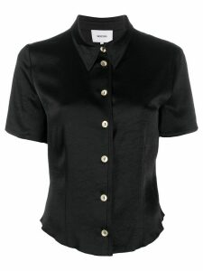 Nanushka cropped button shirt - Black