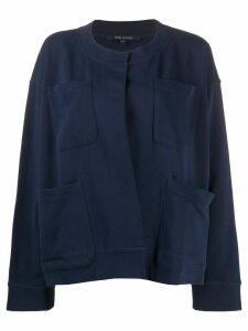 Sofie D'hoore oversized long sleeve cardigan - Blue