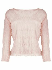 Emporio Armani crinkled knitted top - PINK
