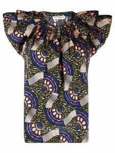 Ulla Johnson Elm geometric print blouse - Green