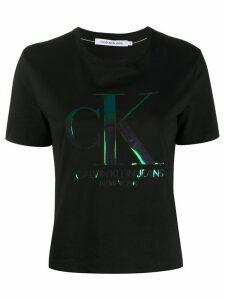 Calvin Klein Jeans iridescent logo T-shirt - Black