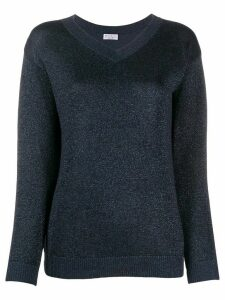 Brunello Cucinelli lurex knit jumper - Blue