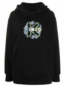 Kenzo K Waves embroidered hoodie - Black