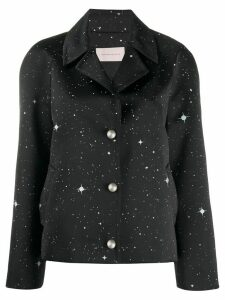 Christopher Kane star satin jacket - Black