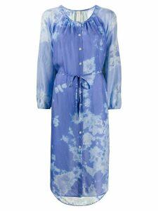 Raquel Allegra silk abstract print dress - Blue