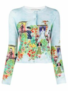 Alice+Olivia Ladies-print cardigan - Blue