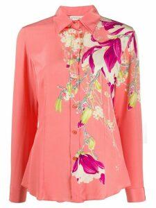 Etro silk floral print shirt - PINK