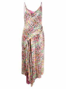 Sies Marjan Farrah crocodile-print dress - PINK