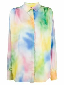 The Attico oversized tie-dye shirt - Blue