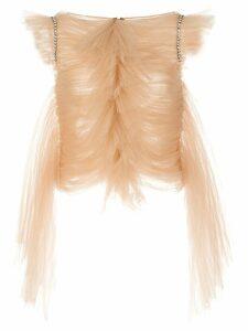 Khaite sleeveless ruffled blouse - NEUTRALS