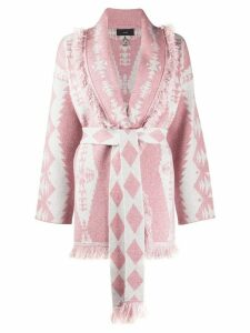 Alanui Baja California Diamonds cardigan - PINK