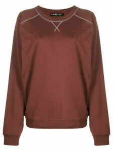 Y/Project oversized embroidered sweatshirt - Brown