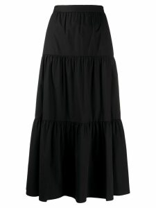 RedValentino tiered midi skirt - Black