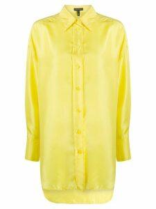Escada silk collared blouse - Yellow