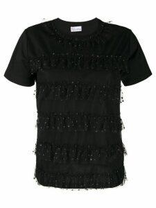 RedValentino tulle embellished T-shirt - Black