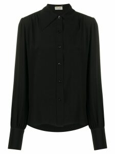 Saint Laurent pointed collar buttoned blouse - Black