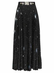 Christopher Kane crystal-embellished celestial-print maxi skirt -