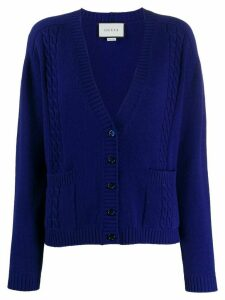 Gucci GG knitted cardigan - Blue
