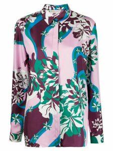 Emilio Pucci abstract print silk shirt - PINK