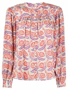 Isabel Marant leaf-print shirt - ORANGE
