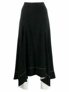 3.1 Phillip Lim A-Line Crepe Skirt - Black