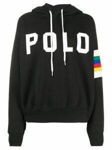 Polo Ralph Lauren logo print hoodie - Black