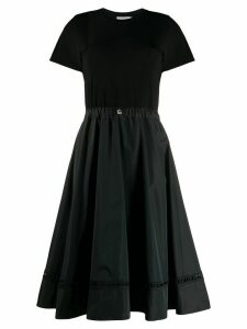 Moncler drawstring waist T-shirt dress - Black