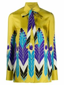 Valentino Pop Feather print shirt - Yellow
