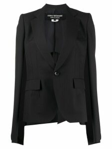 Junya Watanabe open sleeved striped blazer - Blue