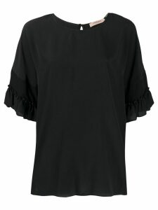 Twin-Set frill sleeve blouse - Black