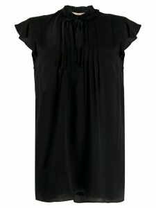 Twin-Set ruffle sleeve blouse - Black