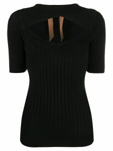 Nº21 cut-out knitted top - Black