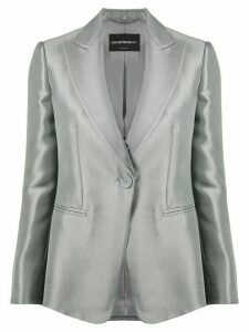Emporio Armani metallic one-button blazer - Green