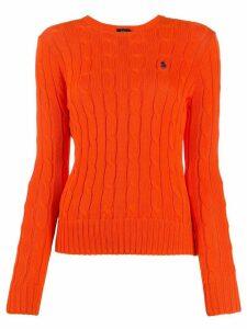 Polo Ralph Lauren cable-knit jumper - ORANGE