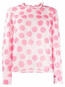 Blumarine polka dot blouse - PINK