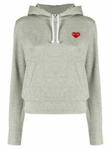 Comme Des Garçons Play logo heart hoodie - Grey